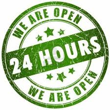 Gambar We are Open 24 hours